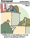 Court case cartoon