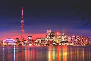 Toronto skyline done up to the 9s