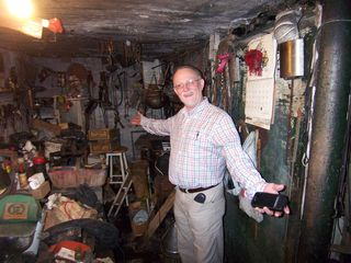 Happy Realtor in Logan Basement