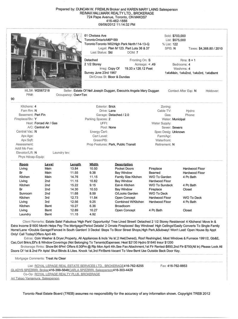 Chelsea listing