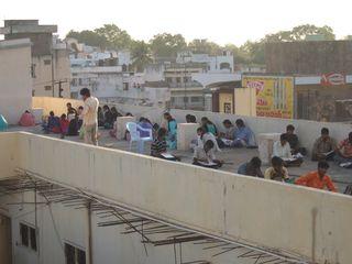 India makeshift school